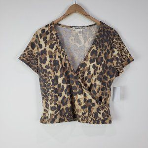 Youth in Revolt NWT Leopard Print Top Size Large